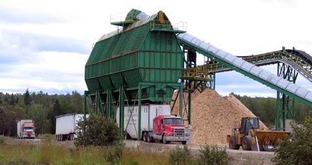 Maine Woods Company Chip Loader