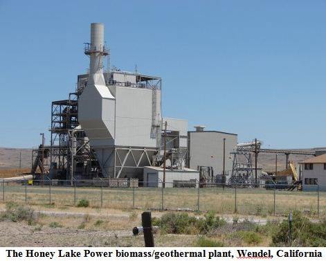The Honey Lake Power biomass/geothermal plant, Wendel, California