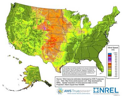 This map illustrates why wind development in the plains is so important